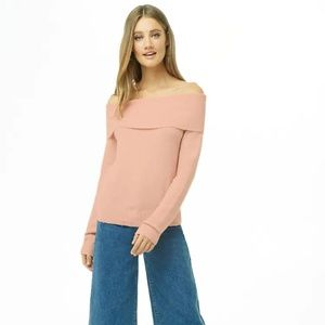 Forever 21 Sweaters - Foldover Off-the Shoulder Sweater